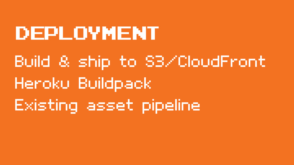 Build & ship to S3/CloudFront Heroku Buildpack ...