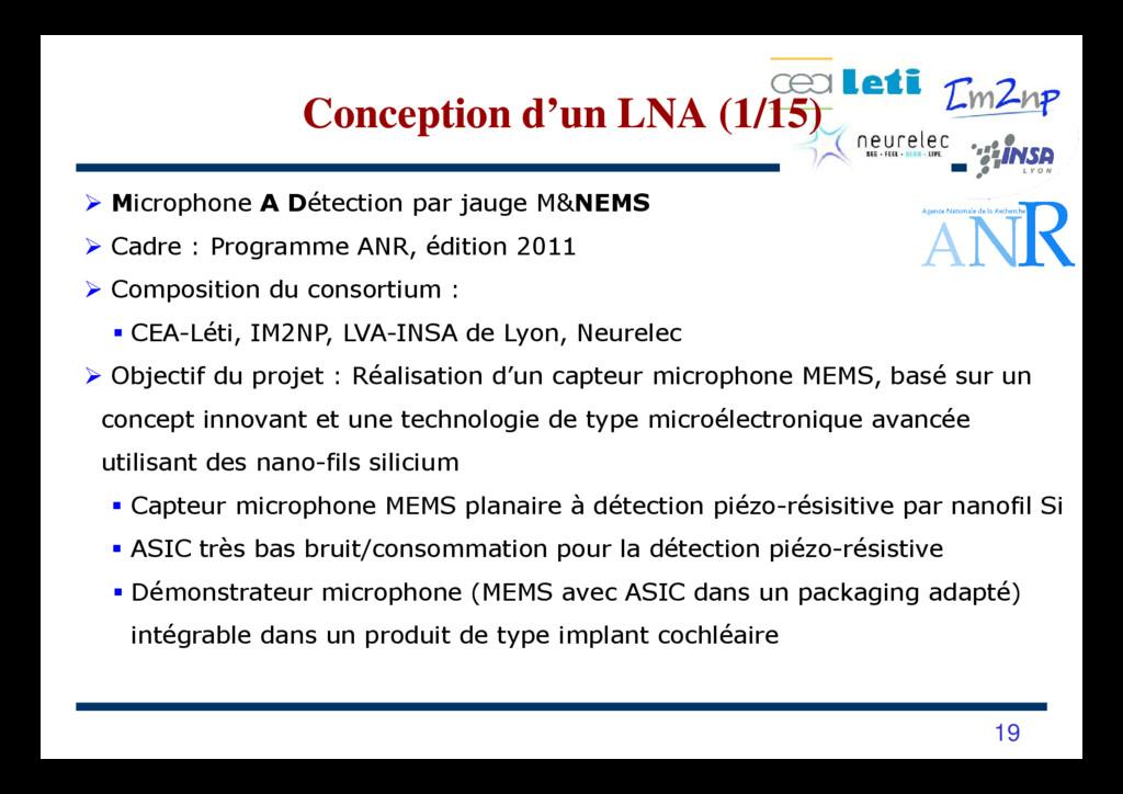 Microphone A Détection par jauge M&NEMS Cadre :...