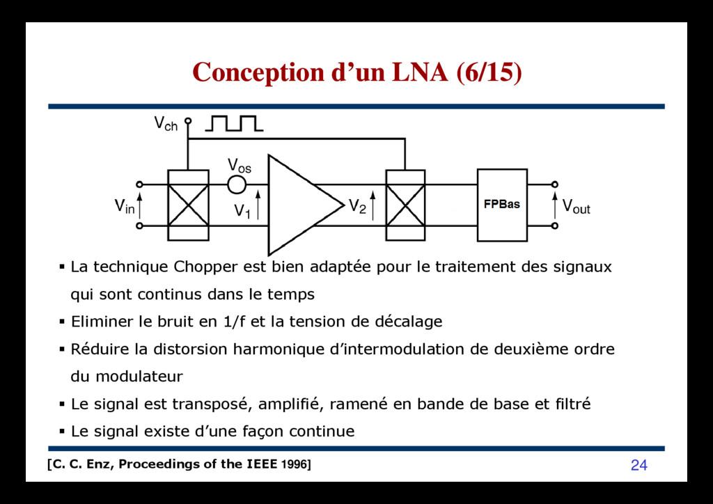 Conception d'un LNA (6/15) Conception d'un LNA ...