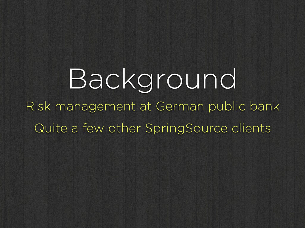 Background Risk management at German public ban...