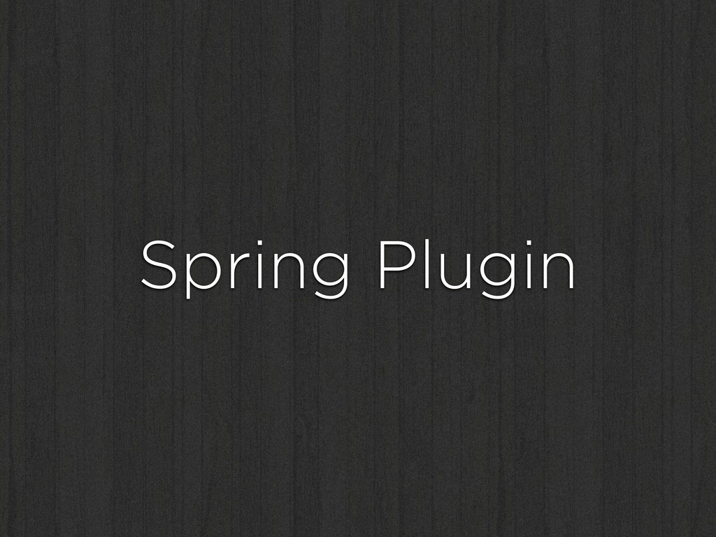 Spring Plugin