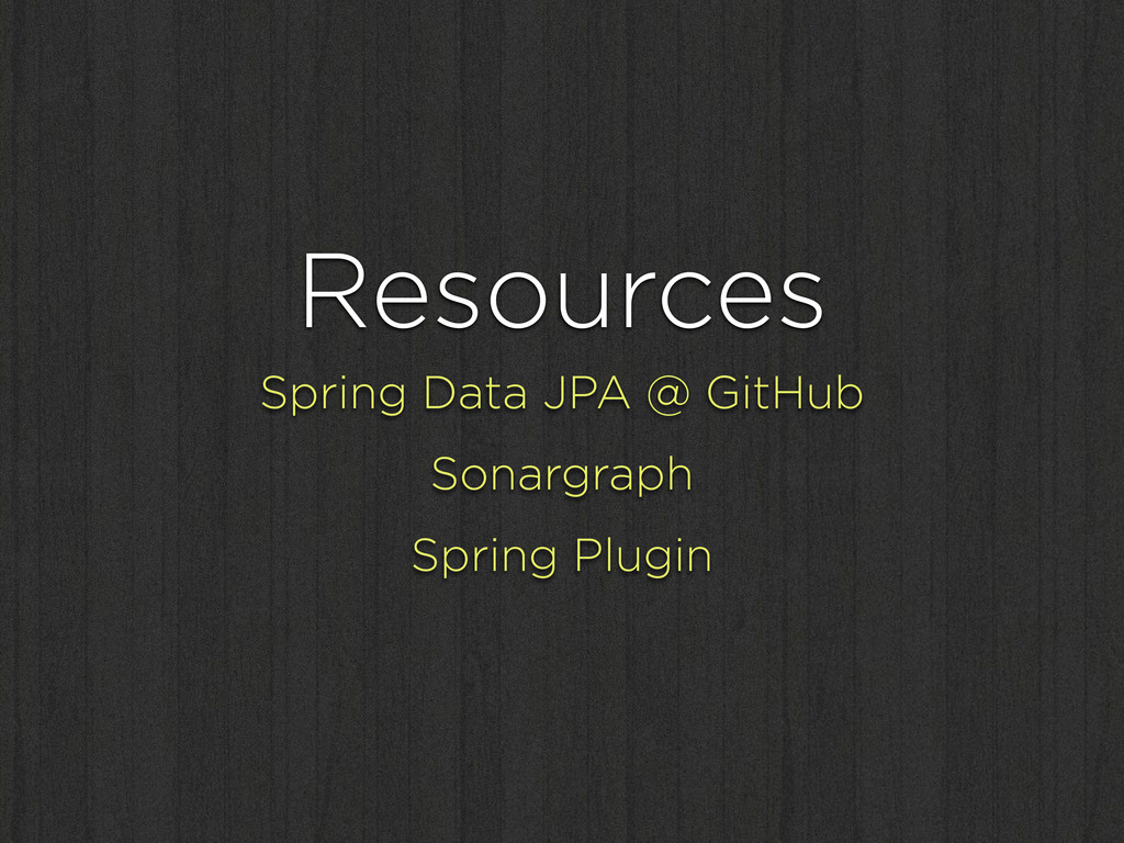 Resources Spring Data JPA @ GitHub Sonargraph S...