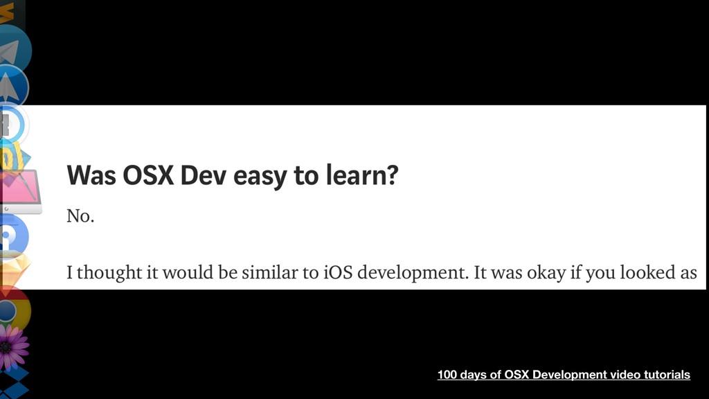 100 days of OSX Development video tutorials