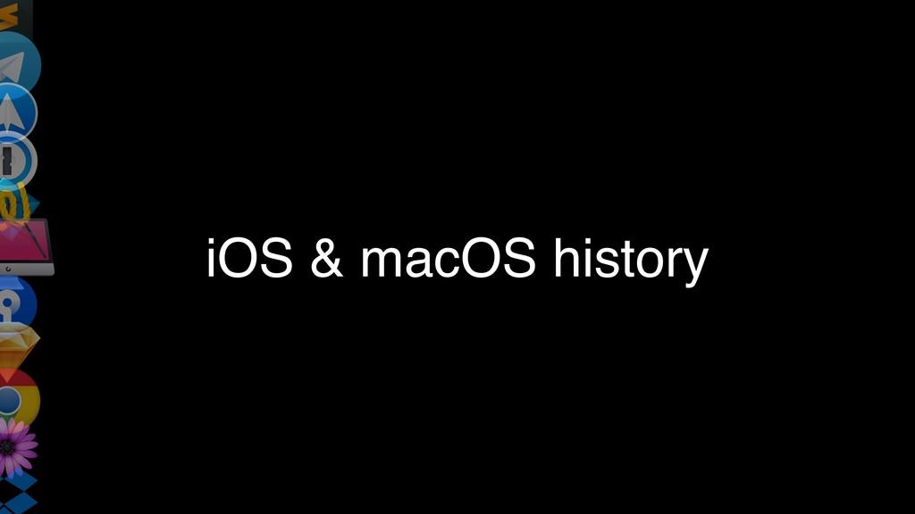 iOS & macOS history