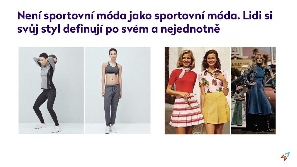 Není sportovní móda jako sportovní móda. Lidi s...