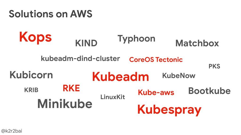 @k2r2bai Solutions on AWS Kubespray RKE Kops Ku...