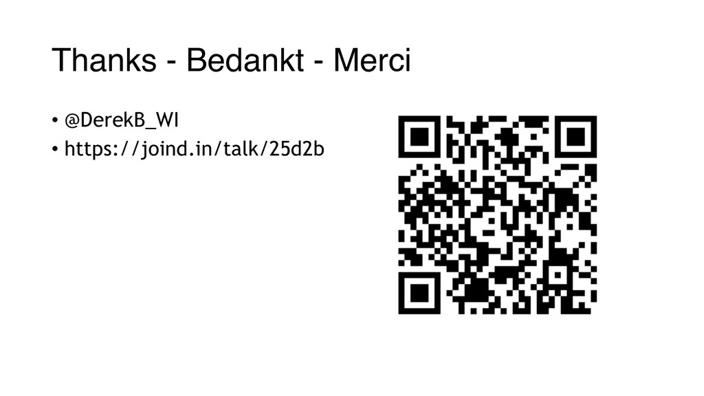 Thanks - Bedankt - Merci • @DerekB_WI • https:/...