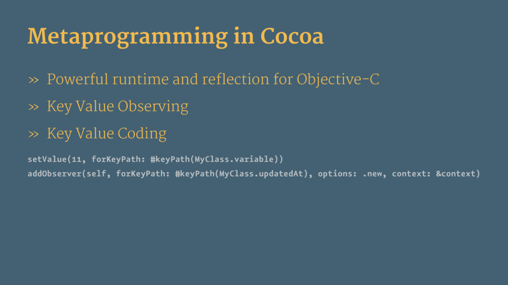 Metaprogramming in Cocoa » Powerful runtime and...