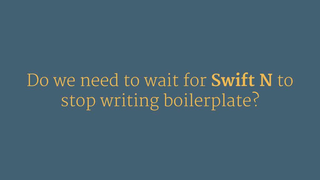 Do we need to wait for Swift N to stop writing ...