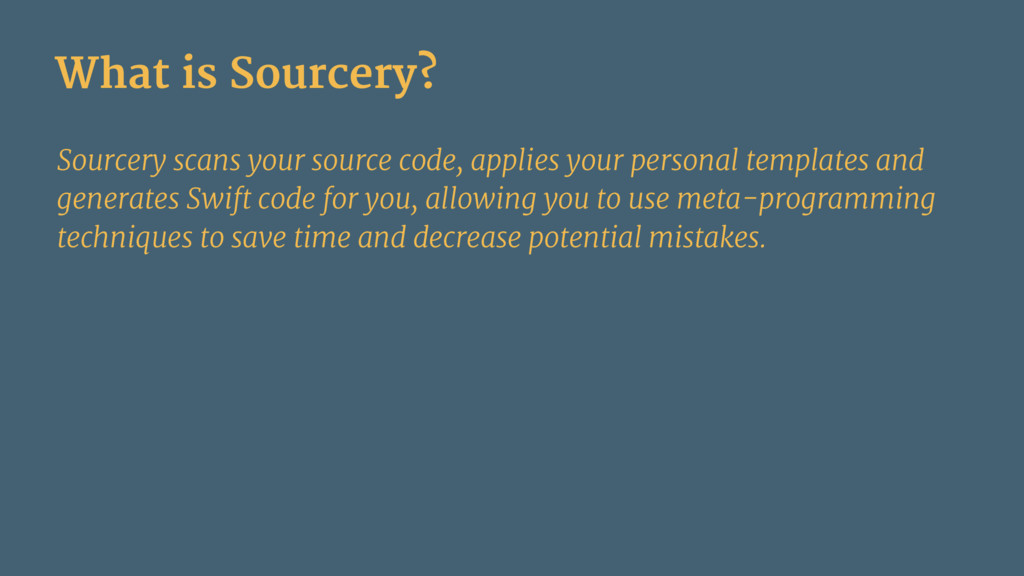 What is Sourcery? Sourcery scans your source co...