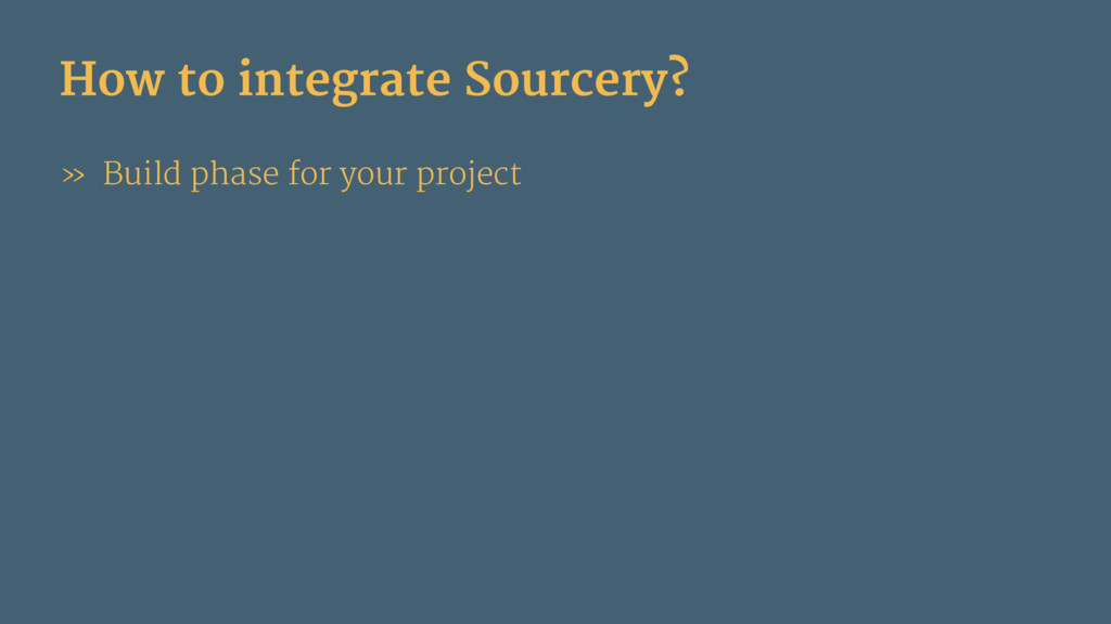 How to integrate Sourcery? » Build phase for yo...