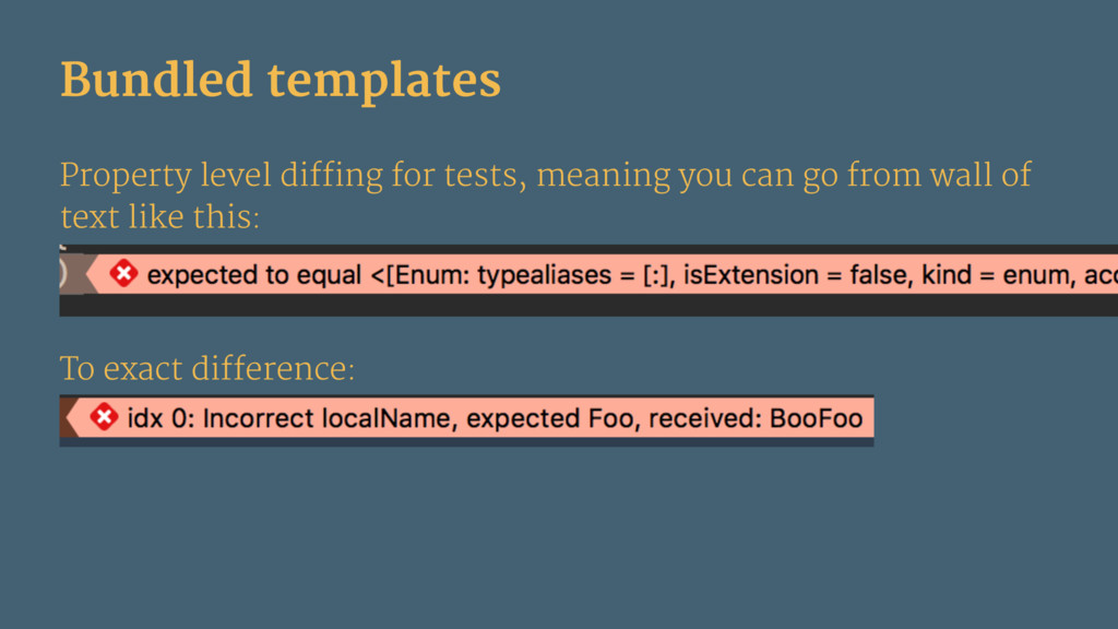 Bundled templates Property level diffing for te...