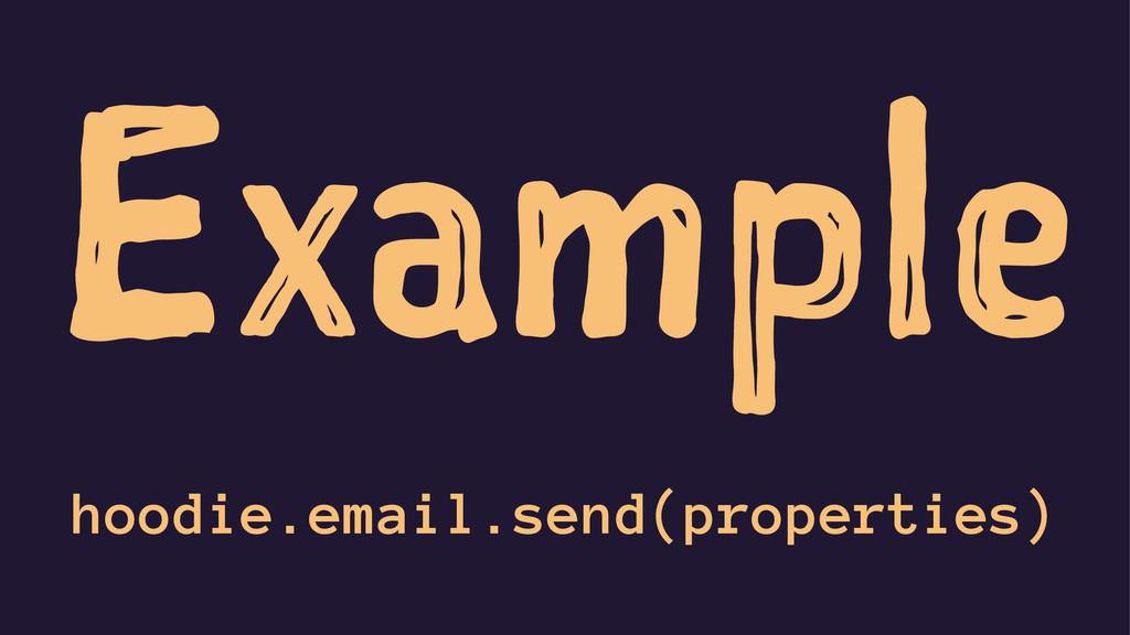 Example hoodie.email.send(properties)
