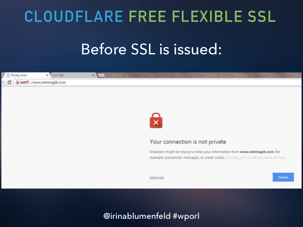 Before SSL is issued: CLOUDFLARE FREE FLEXIBLE ...
