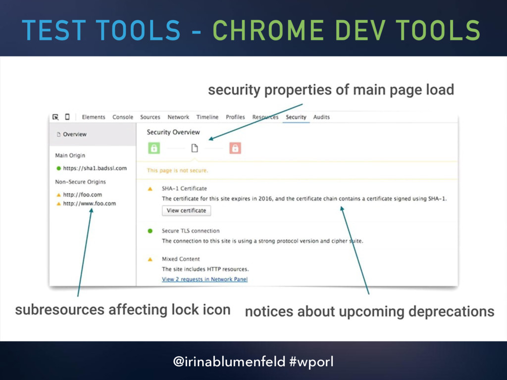TEST TOOLS - CHROME DEV TOOLS @irinablumenfeld ...