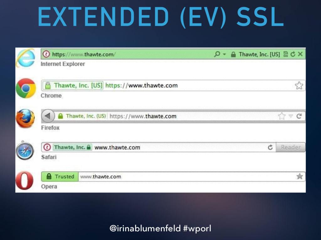 EXTENDED (EV) SSL @irinablumenfeld #wporl