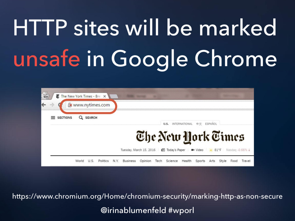 HTTP sites will be marked unsafe in Google Chro...