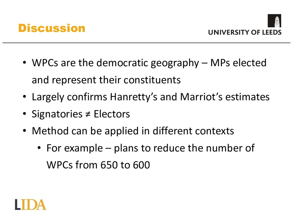 Discussion • WPCs are the democratic geography ...