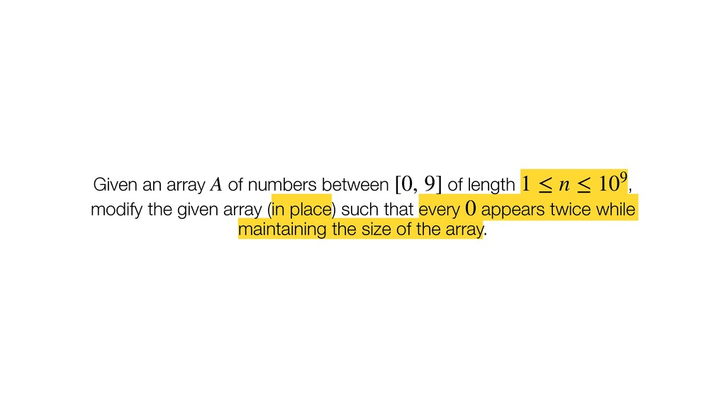Given an array of numbers between of length , m...