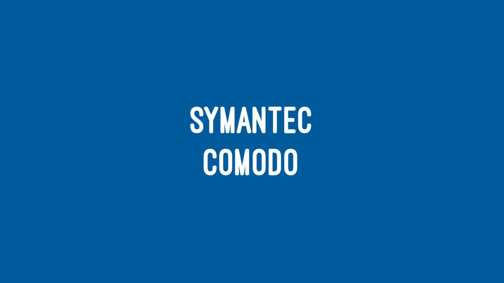 SYMANTEC COMODO