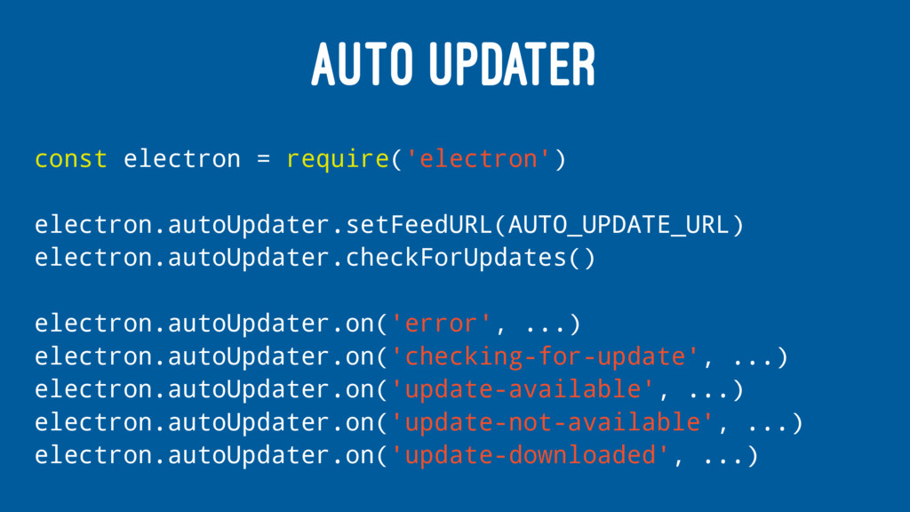 AUTO UPDATER const electron = require('electron...
