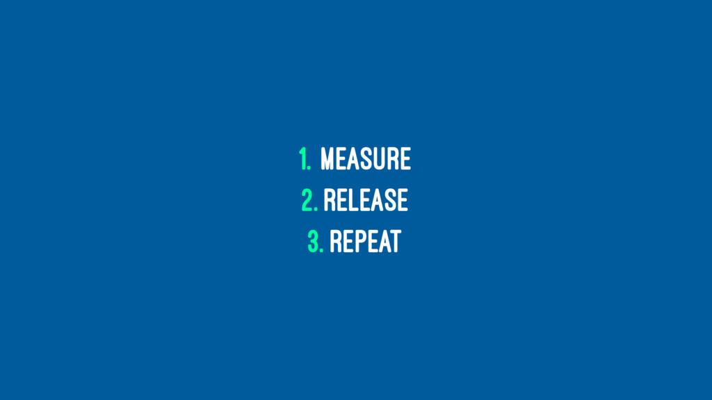 1. Measure 2. Release 3. Repeat