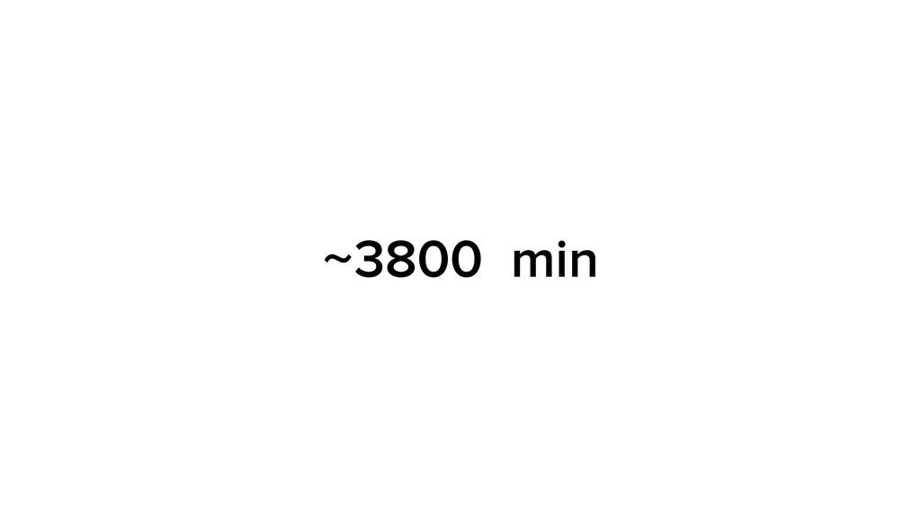 ~3800 min
