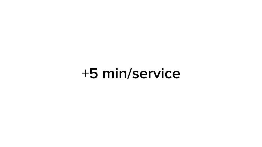 +5 min/service