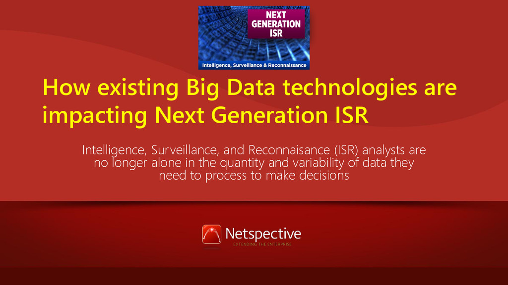 How existing Big Data technologies are impactin...