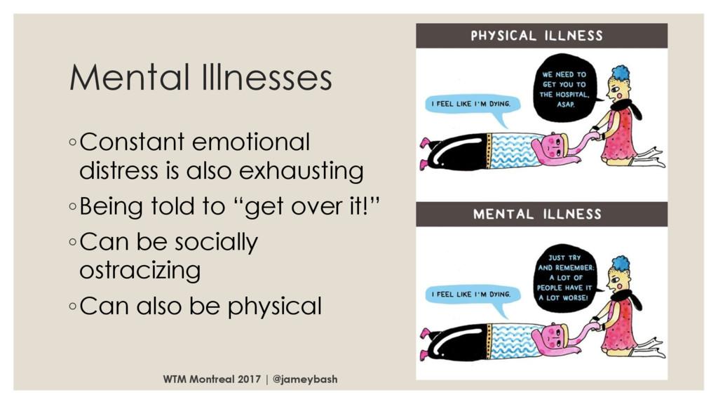 Mental Illnesses ◦Constant emotional distress i...