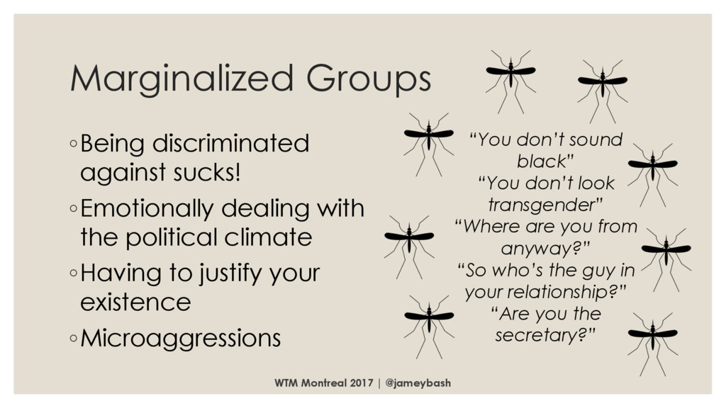 Marginalized Groups ◦Being discriminated agains...