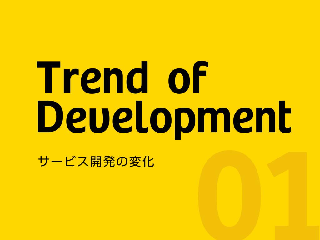 Trend of Development αʔϏε։ൃͷมԽ