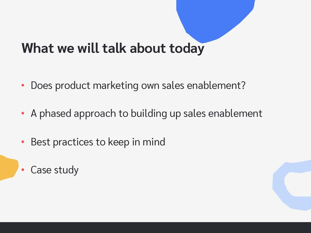 What we will talk about today • Does product ma...