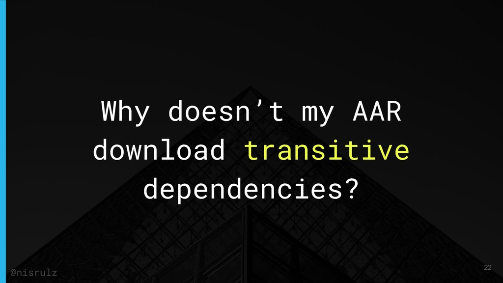 Why doesn't my AAR download transitive dependen...