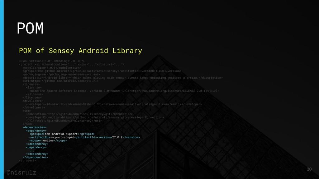 POM POM of Sensey Android Library <?xml version...