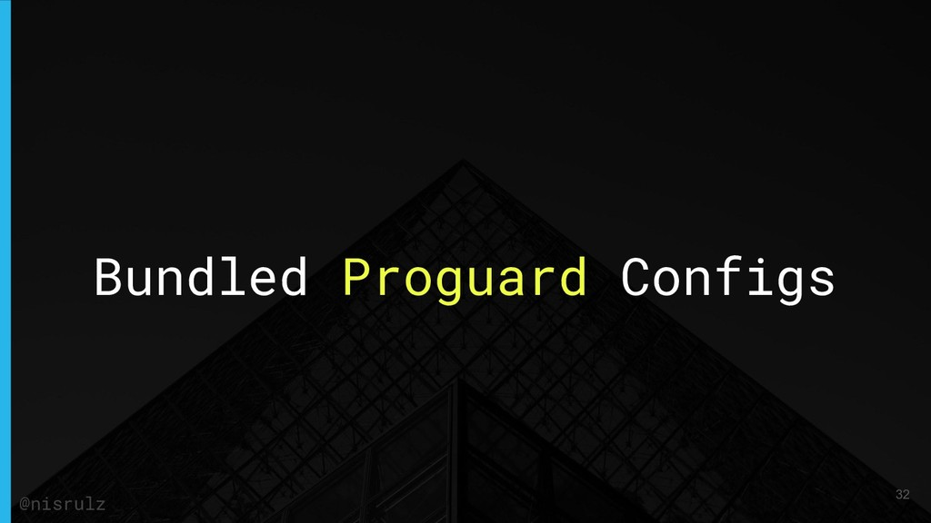 Bundled Proguard Configs 32 @nisrulz