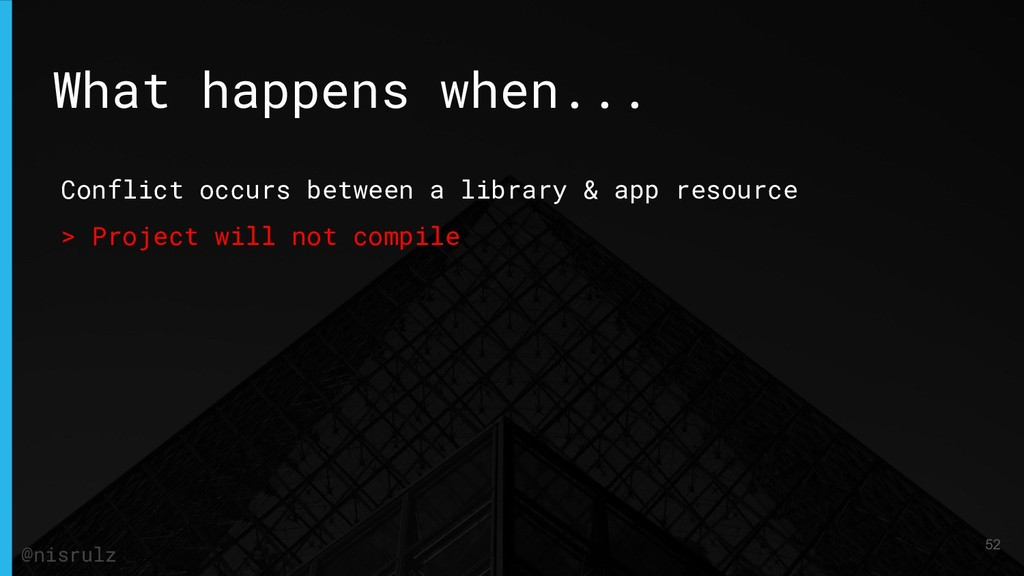 Conflict occurs between a library & app resourc...