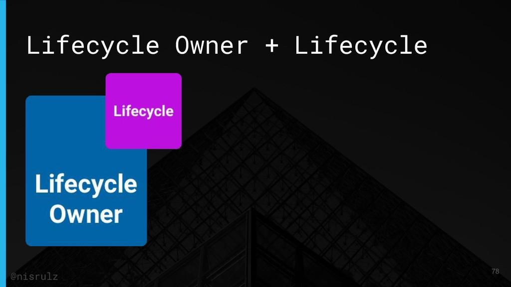 Lifecycle Owner + Lifecycle 78 @nisrulz