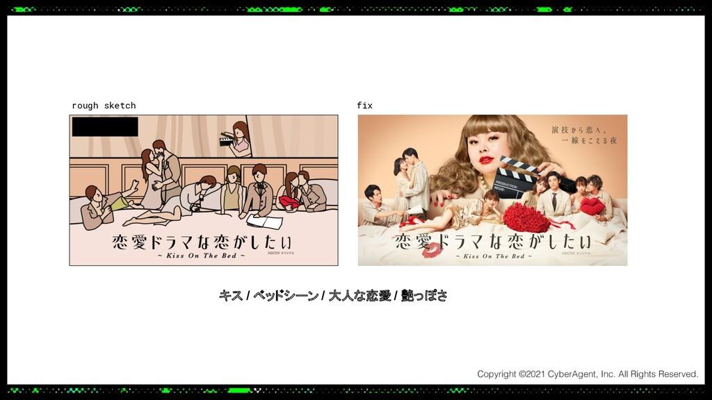 rough sketch キス / ベッドシーン / 大人な恋愛 / 艶っぽさ fix