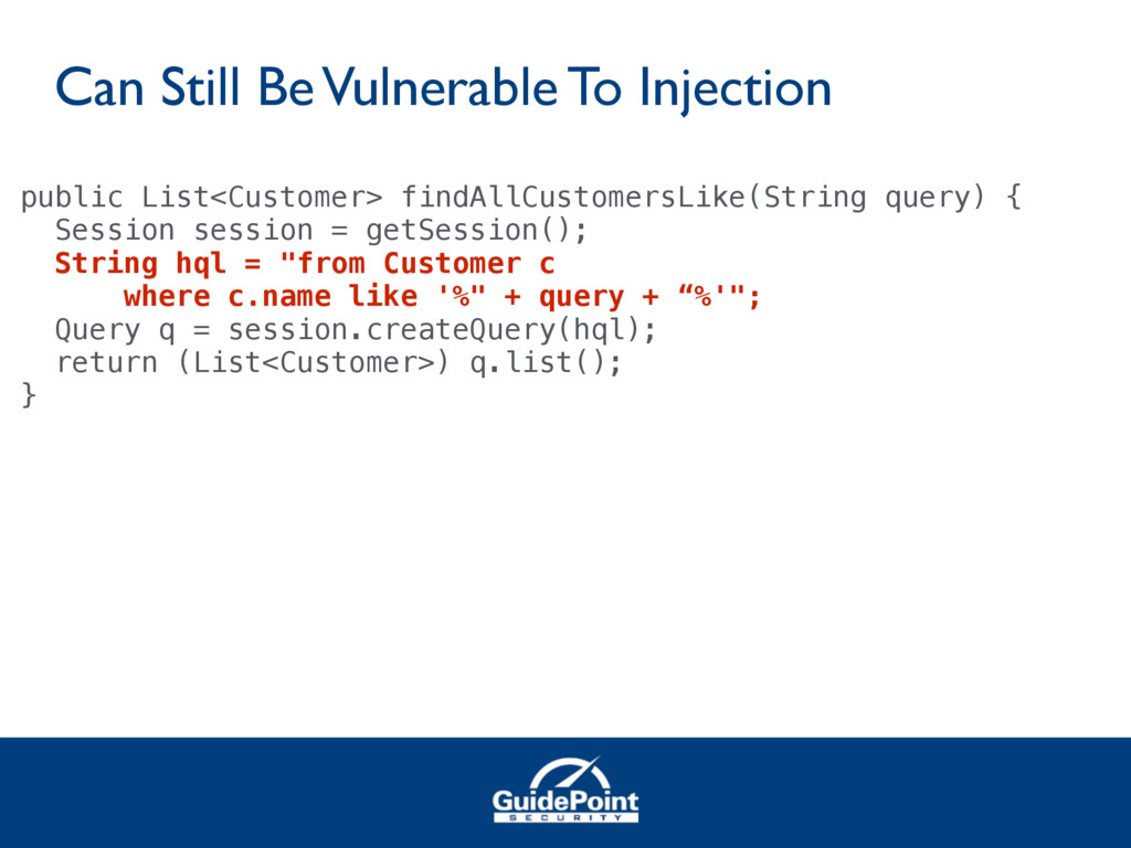 Can Still Be Vulnerable To Injection public Lis...