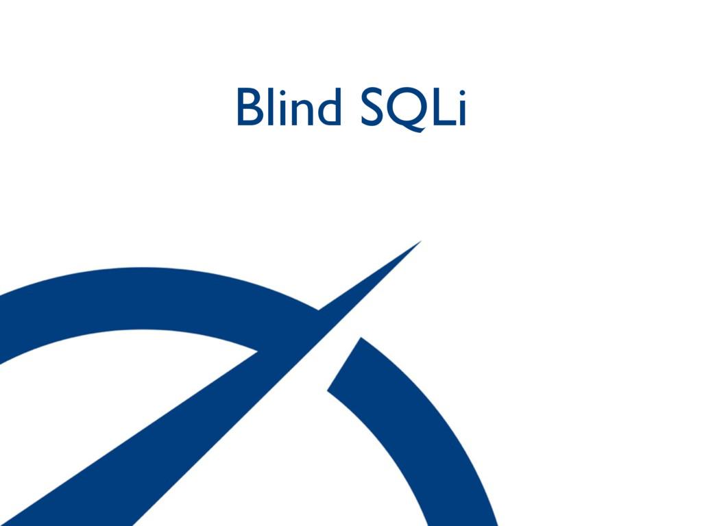 Blind SQLi