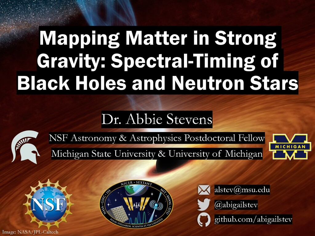 Mapping Matter in Strong Gravity: Spectral-Timi...