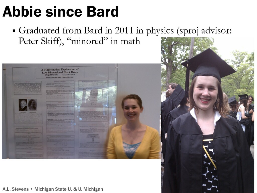 Abbie since Bard § Graduated from Bard in 2011 ...