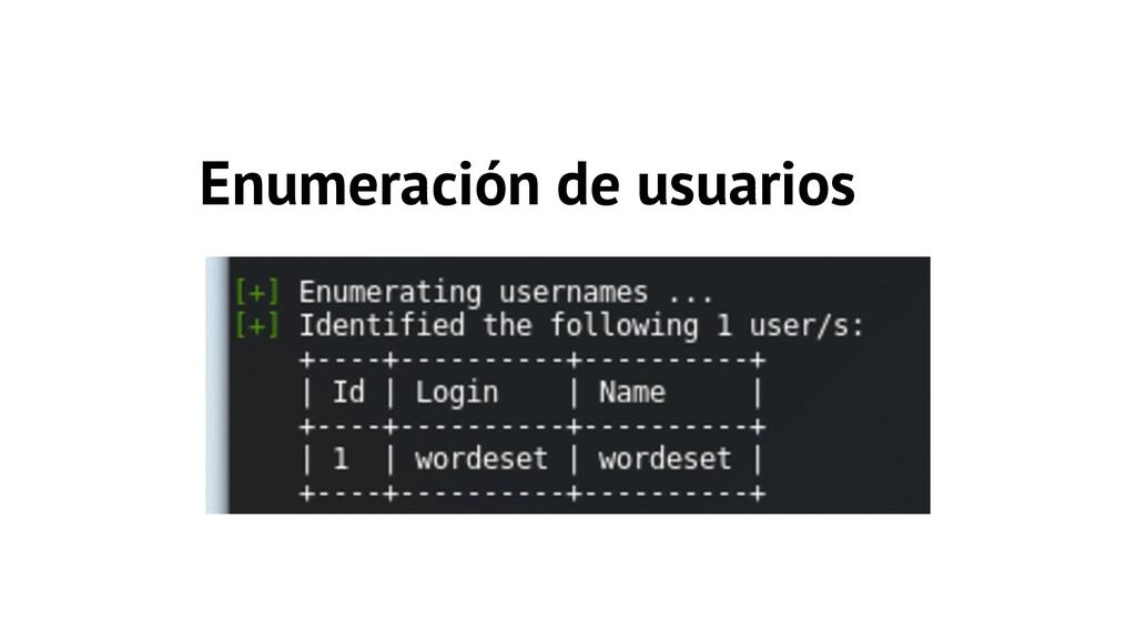 Enumeración de usuarios