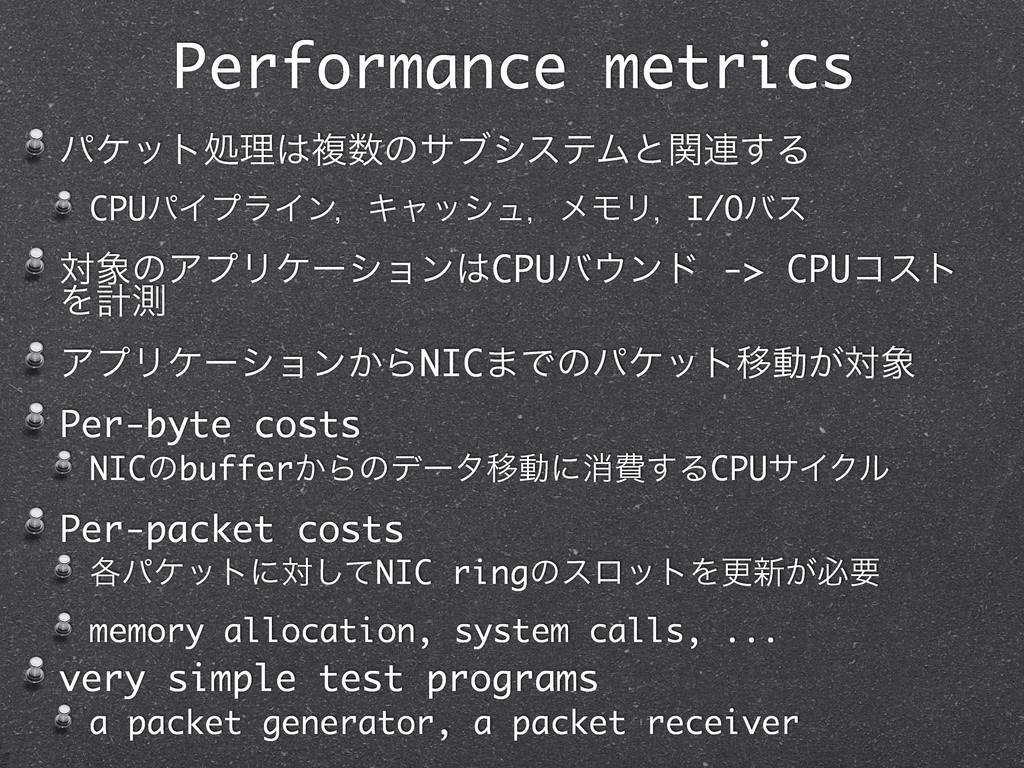 Performance metrics ύέοτॲཧෳͷαϒγεςϜͱؔ࿈͢Δ CPUύΠ...