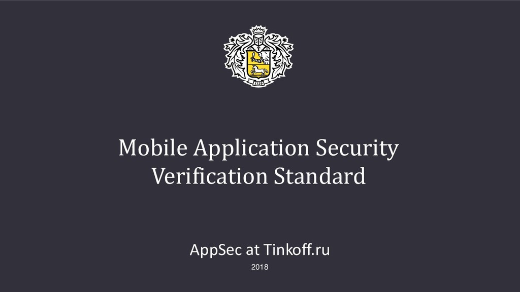 Mobile Application Security Verification Standa...