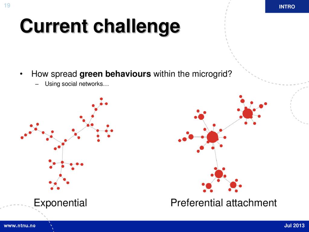 19 Current challenge • How spread green behavio...