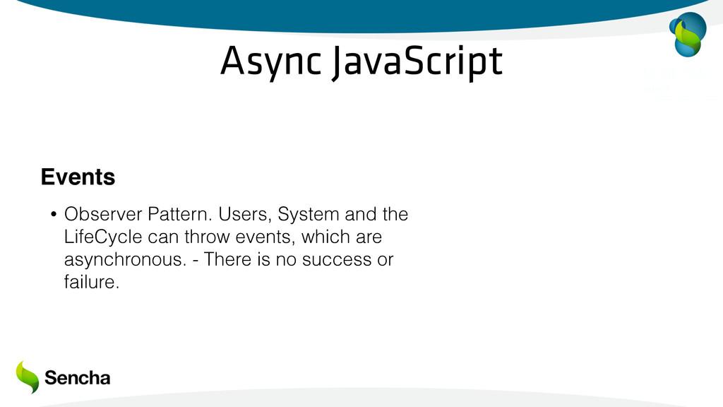 Async JavaScript Events • Observer Pattern. Use...