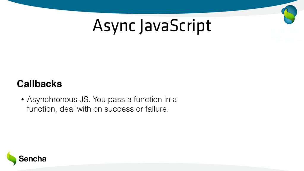 Async JavaScript Callbacks • Asynchronous JS. Y...
