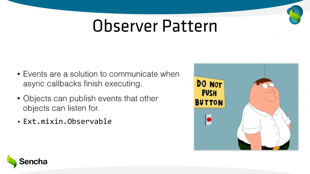 Observer Pattern • Events are a solution to com...